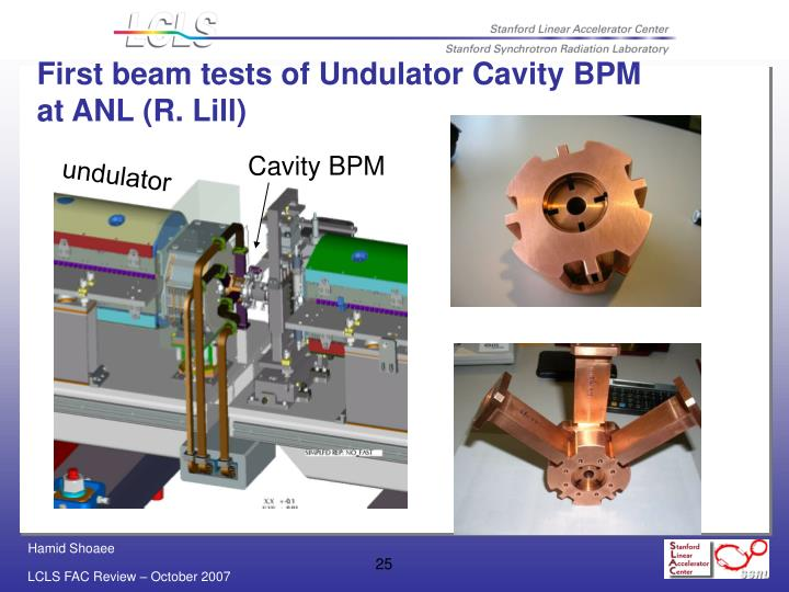 First beam tests of Undulator Cavity BPM