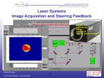 laser systems image acquisition and steering feedback