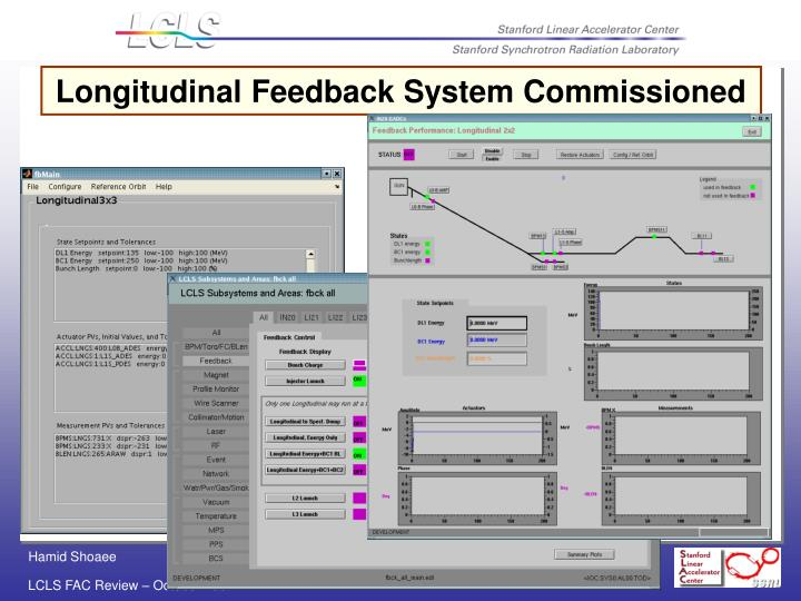 Longitudinal Feedback System Commissioned