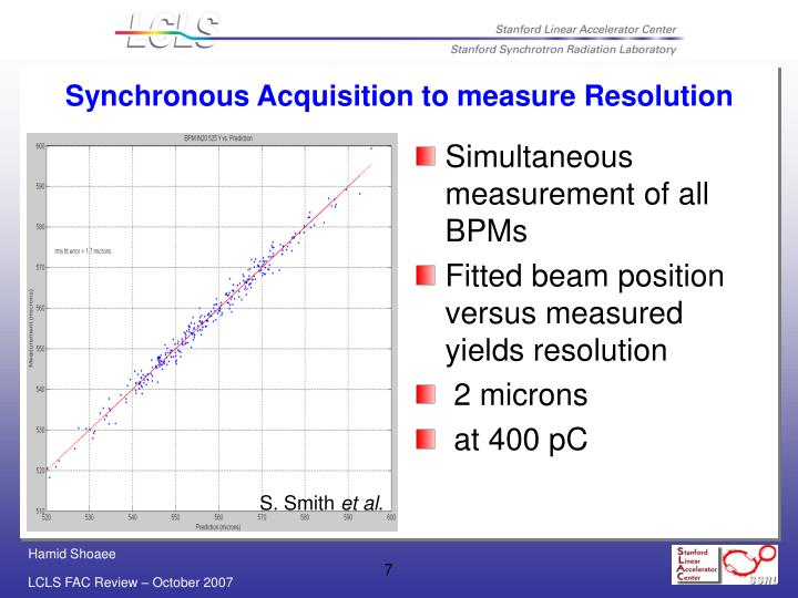 Simultaneous measurement of all BPMs