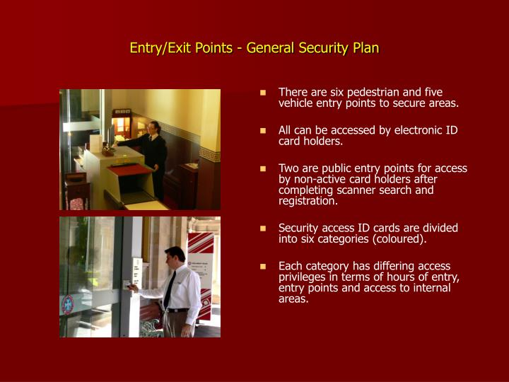Entry/Exit Points - General Security Plan