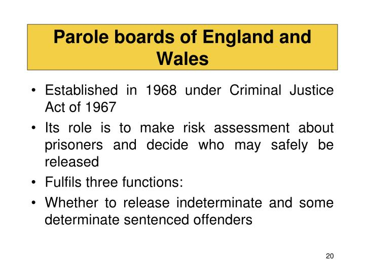 Parole boards of England and Wales