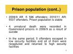 prison population cont