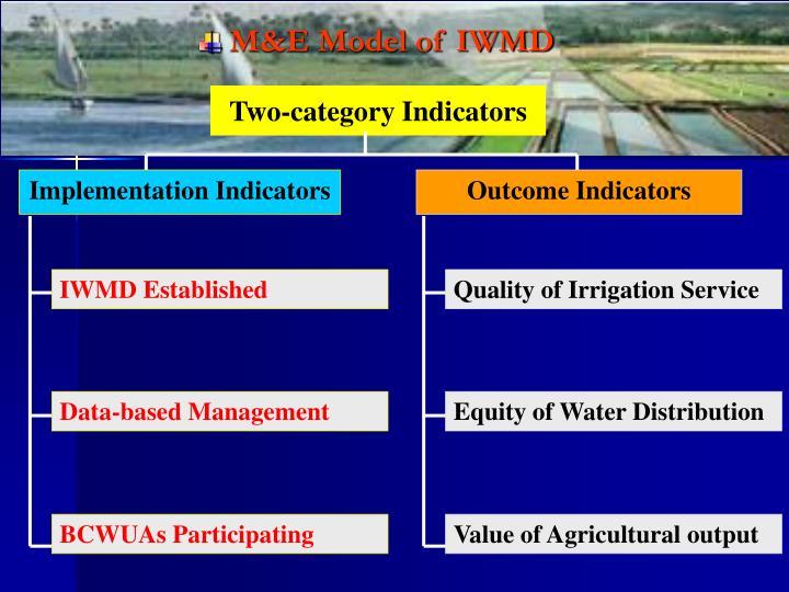 M&E Model of IWMD