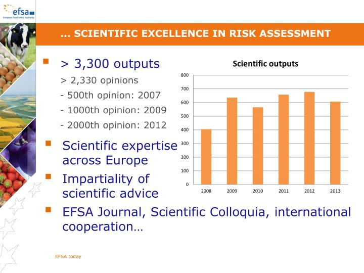 ... scientific excellence in risk assessment