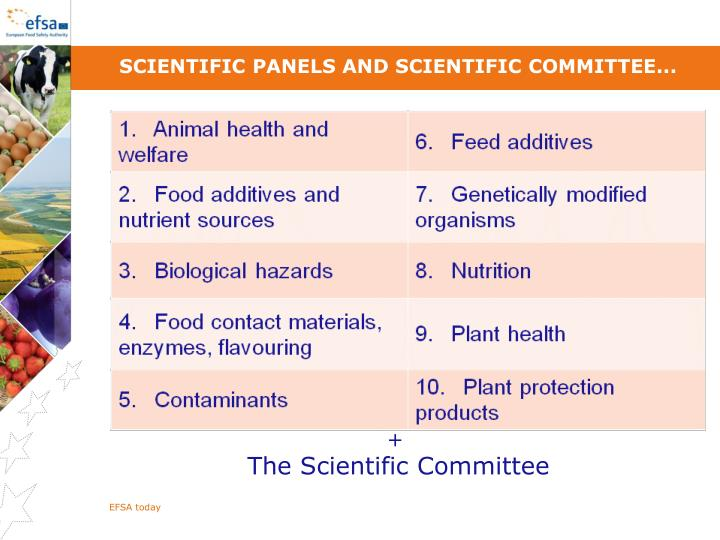Scientific Panels and Scientific Committee...