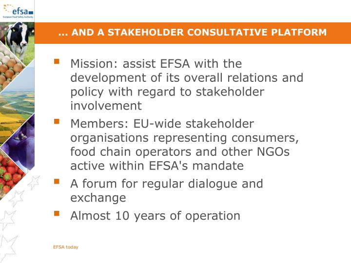... and a stakeholder Consultative Platform