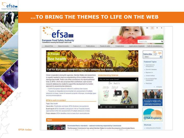 ...To bring the themes to life on the web