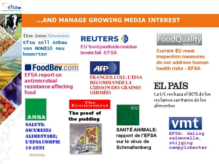 ...and manage growing media interest