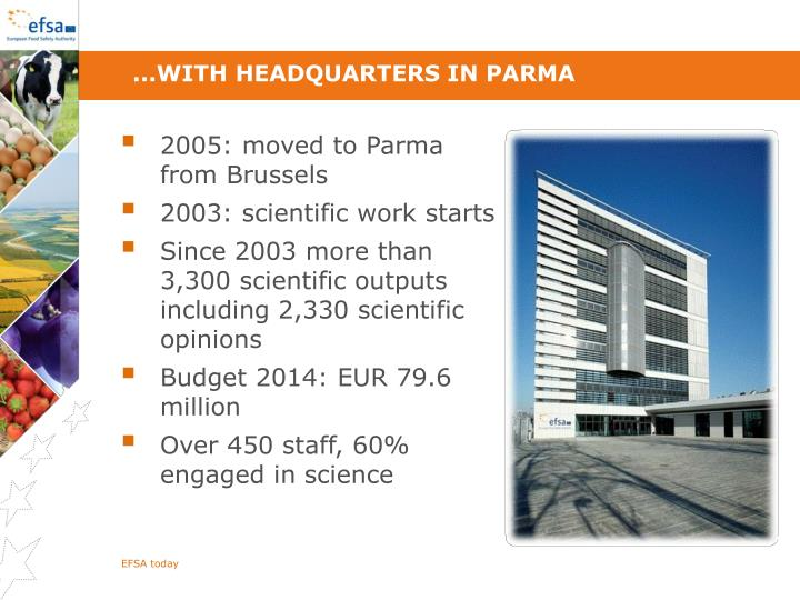 ...with headquarters in Parma