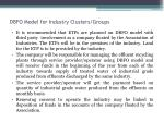dbfo model for industry clusters groups1