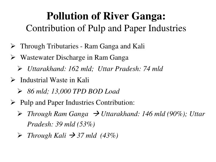 Pollution of River