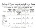 pulp and paper industries in ganga basin6