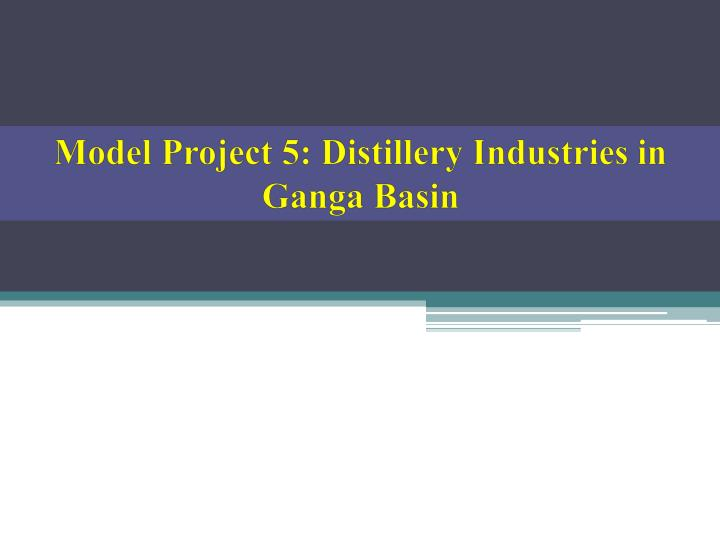 Model Project 5: Distillery Industries in