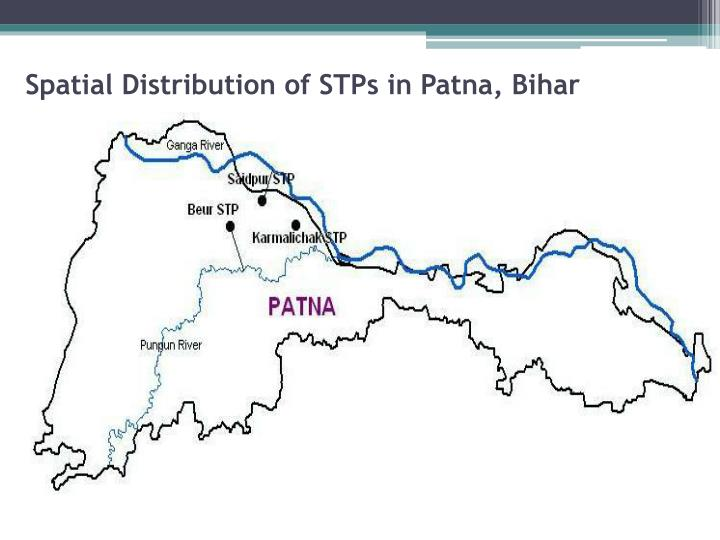 Spatial Distribution of STPs in Patna, Bihar