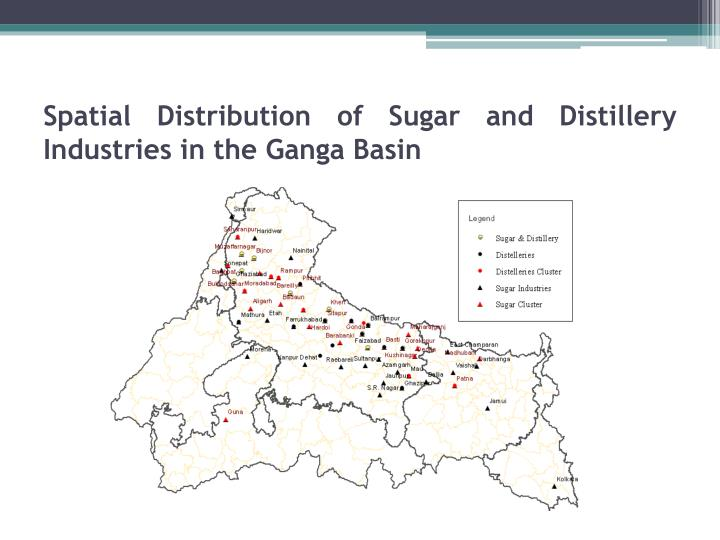 Spatial Distribution of Sugar and Distillery Industries in the
