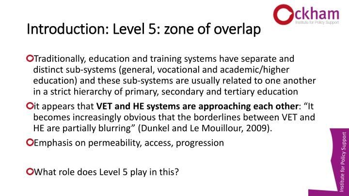 Introduction: Level 5: zone of overlap