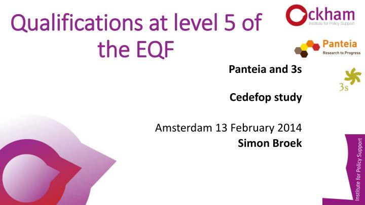 Qualifications at level 5 of the eqf
