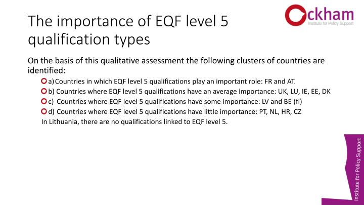 The importance of EQF level 5 qualification types