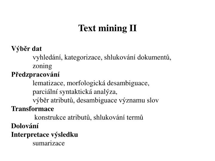 Text mining II