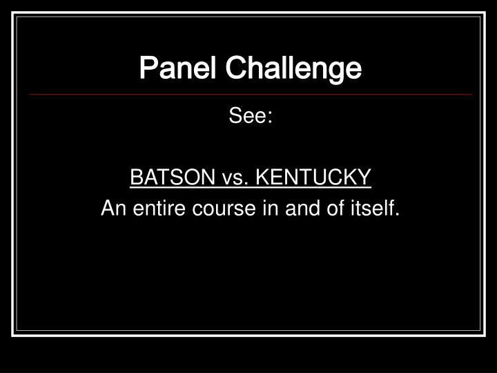 Panel Challenge