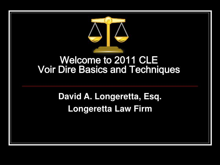 Welcome to 2011 CLE