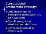 constitutional amendment strategy