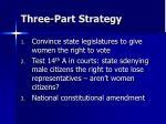 three part strategy