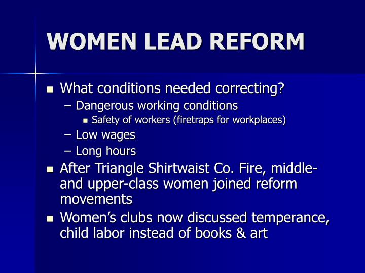 WOMEN LEAD REFORM