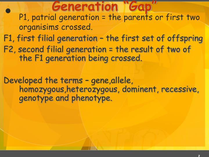 "Generation ""Gap"""