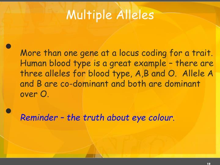 Multiple Alleles