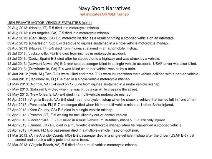 Navy Short Narratives