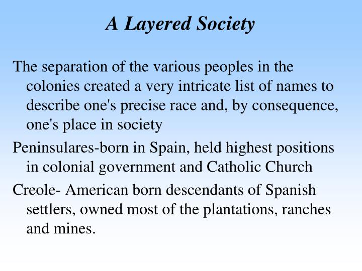 A Layered Society
