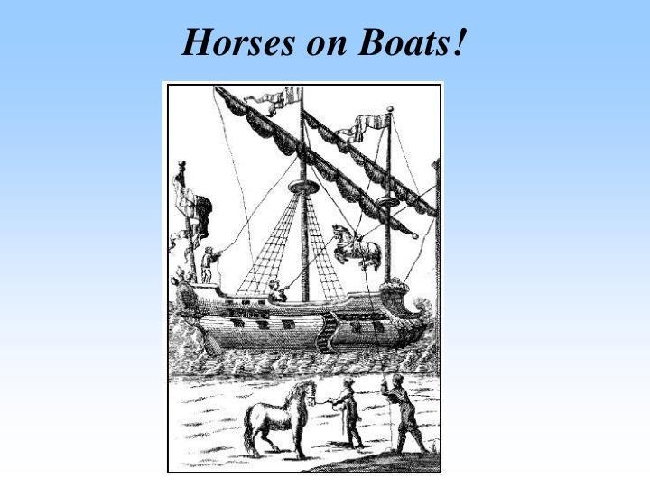 Horses on Boats!