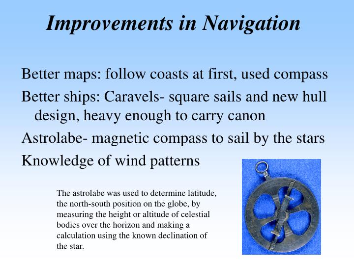 Improvements in Navigation