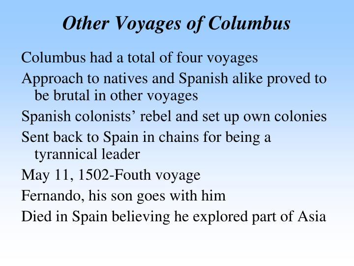 Other Voyages of Columbus