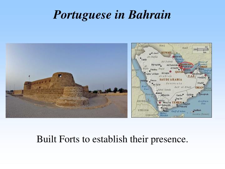 Portuguese in Bahrain