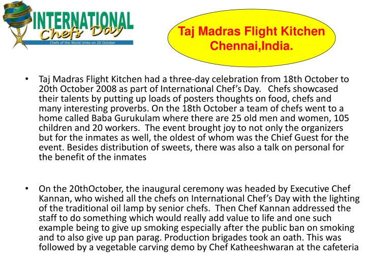 Taj Madras Flight Kitchen