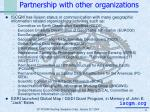 partnership with other organizations