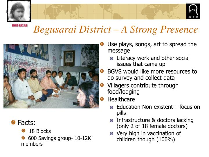 Begusarai District – A Strong Presence