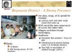 begusarai district a strong presence