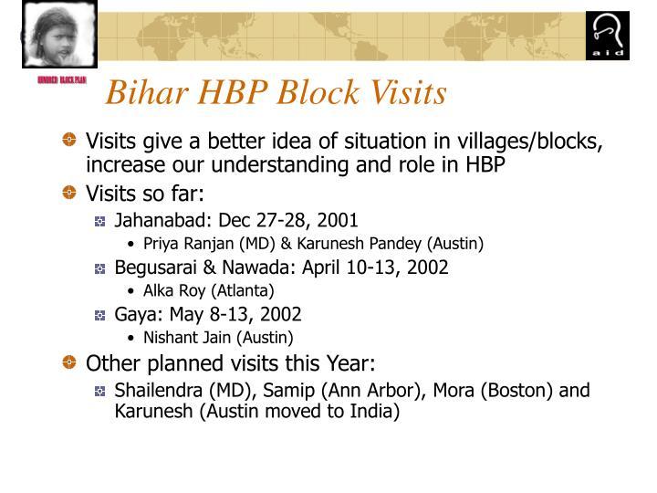 Bihar HBP Block Visits