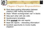 chapter chapter responsibilities
