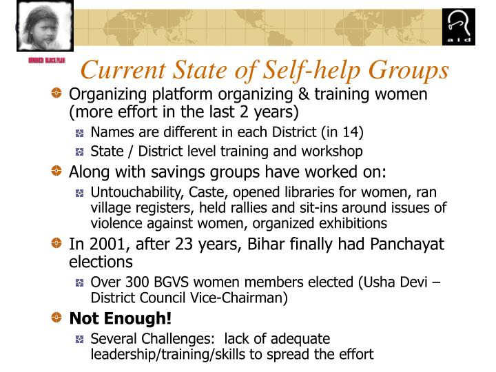 Current State of Self-help Groups