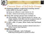 current state of self help groups
