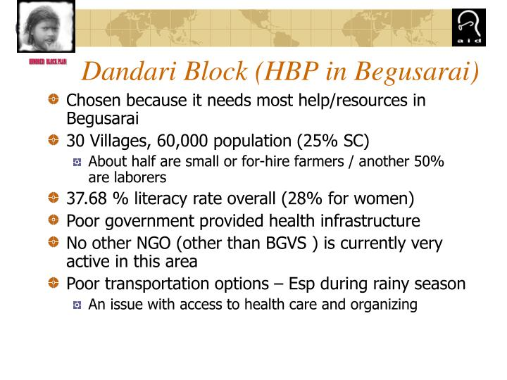 Dandari Block (HBP in Begusarai)