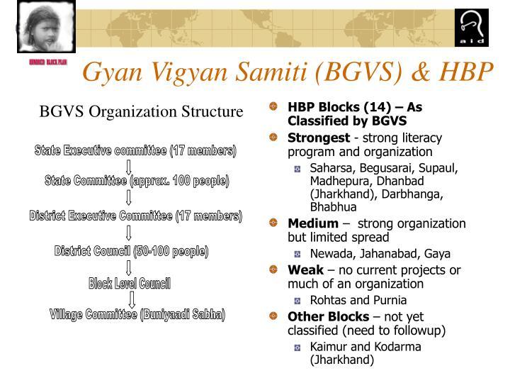 Gyan Vigyan Samiti (BGVS) & HBP