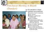 panchayat meeting in baank dandari