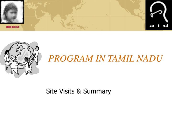 PROGRAM IN TAMIL NADU