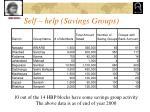 self help savings groups